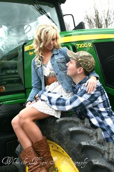 take you on a ride on my big green tractor