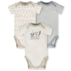 e8e20787d Gerber's 3-Pack Teepee Fox Organic Cotton Bodysuits make a great addition  to your little