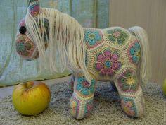 Купить Лошадка без имени - комбинированный, игрушка ручной работы, игрушка для детей
