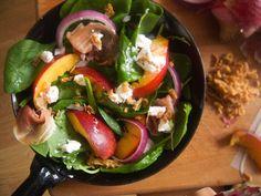 summer peach salad