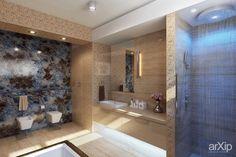Ванная комната в современном доме в поселке «Покровский»: интерьер, зd визуализация, квартира, дом, санузел, ванная, туалет, современный, модернизм, 10 - 20 м2, интерьер #interiordesign #3dvisualization #apartment #house #wc #bathroom #toilet #modern #10_20m2 #interior