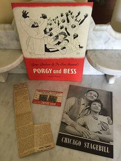 Vintage 1942 Porgy and Bess Souvenir Program Orig B'Way