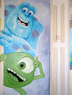 monsters inc mural
