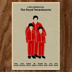 Wes Anderson - The Royal Tenenbaums - A2 from Movie Poster Pop- Art - R199 (Save 0%)