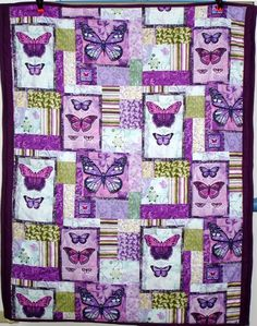 these are a few of my favorite things #butterflies #purple #quilt