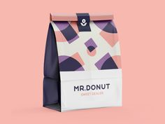 Donut Sweet Dealer by Stan Aleyn for The Faces on DribbbleMr. Donut Sweet Dealer by Stan Aleyn for The Faces on Dribbble Food Branding, Food Packaging Design, Packaging Design Inspiration, Brand Packaging, Branding Design, Bakery Branding, Bottle Packaging, Packaging Ideas, Label Design