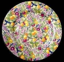 VINTAGE CROWN DUCAL ENGLAND CHINTZ DESSERT SALAD LUNCH PLATE Fruit 1920's RARE