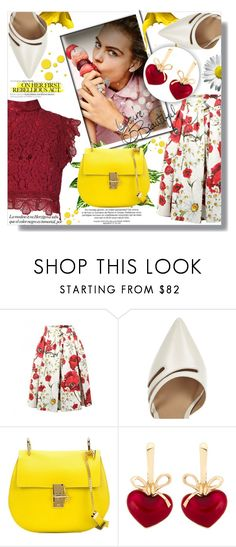 """Life is short, Make every outfit count"" by xwafflecakezx ❤ liked on Polyvore featuring Dolce&Gabbana, River Island, Chloé, LIST, KDIA and Martha Medeiros"