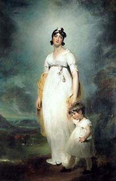 1799 Thomas Lawrence - Portrait of Mrs John Angerstein, born Amelia Lock and her oldest child John Julius William