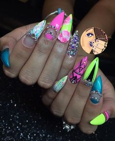 And this is what my passion is... Another Dope AF Set Neon Yellow, Pink & Turquoise With Accents Of White & Black