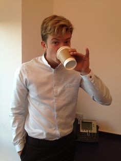 James (Ed Speleers) is off showing how people drink at Downton Abbey. Join #teamservants and send us a photo. #DoTheDownton.
