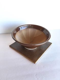 Rustic Studio Pottery Textured Bowl by SandHollowVintage on Etsy
