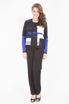STEILMANN LONG SLEEVE COTTON MIX PRINT CARDI Mixing Prints, Winter Collection, Fall Winter, Fashion Dresses, Pajama Pants, Blazer, Long Sleeve, Cotton, Jackets