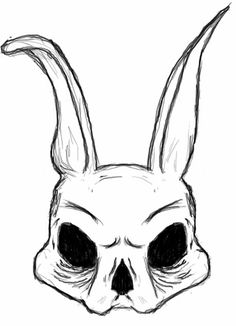 skull bunny by zombierapture a bunny 'skull bunny' by zombierapture Trippy Drawings, Dark Art Drawings, Pencil Art Drawings, Art Drawings Sketches, Cool Drawings, Skull Drawings, Tattoo Design Drawings, Creepy Sketches, Psychedelic Drawings