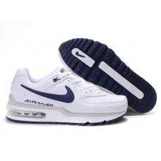 Hommes Nike Air Max LTD Blanc/Dark Bleu