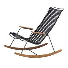 De Click schommelstoel bestaat uit een gepoedercoat metalen frame met plastic…