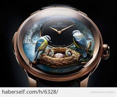 Jaquet Droz Bird Repeater--Incredible time piece by swiss watch maker. only 8 in the world in the limited edition! Amazing Watches, Cool Watches, Watches For Men, Unique Watches, Men's Watches, Bracelet Nato, Bracelet Cuir, Watch Complications, Limited Edition Watches