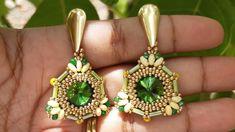 Beaded Earrings, Drop Earrings, Earring Tutorial, Bead Weaving, Youtube, Beads, Videos, Jewelry, Fashion