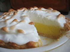 Lemon pie (receta super facil, y riquisima) Sugar Free Meringue Recipe, Meringue Pie, Sugar Free Recipes, Lemon Merengue Pie, Lemon Pie Receta, Lemon Curd, Banoffee Pie, Amish Recipes, Pie Recipes