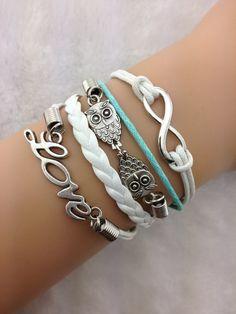 Infinity Love Owl Women's Jewelry Bracelet by RubyGraceJewelry, $5.99