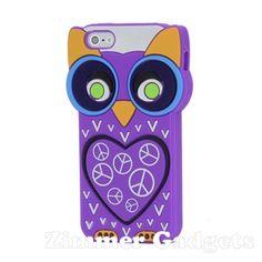 """Zimmer-Gadgets adalah Toko online khusus menjual Casing dari product Apple """"Lovely 3D Owl Heart Soft Silicone Skin Cover Case for iPhone 5 - Purple"""" dengan menghadirkan casing yang unik dan trendy setiap harinya"""