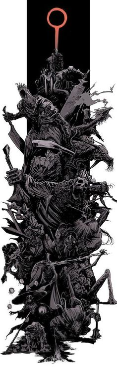 Dark Souls 3 bosses splash by uger Dark Souls 3, Funny Dark Souls, Dark Souls 2 Bosses, Demon's Souls, Sketch Video, We All Mad Here, Splash Art, Soul Game, Vegvisir
