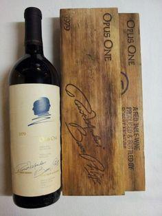 Opus One First Vintage Opus One, Wine Rack, Bottle, News, Vintage, Drinking, Flask, Vintage Comics, Wine Racks