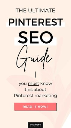 Pinterest SEO in 2021: The Ultimate Guide for Massive Blog Traffic Seo Guide, Seo Tips, Seo Techniques, Make Money Blogging, Pinterest Marketing, Business Tips, Pinterest Design, Wordpress Plugins, Pinterest Account
