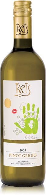 Kris Wine, easily found at your friendly neighborhood Safeway. I'm a huge fan of the Heart Merlot. :)