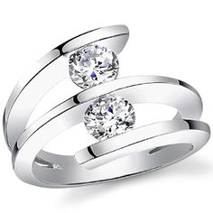Ring Design Ideas unique designer engagement rings design ideas for women Round Brilliant Moissanite Right Hand Ring 10ct