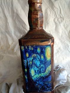 Recycled Wine bottle Lamp by Earth Scents on Etsy.