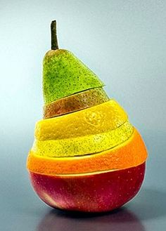 rainbow colors | layered fruits
