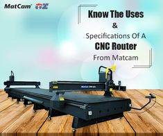 Matcam's quality certified #CNCrouters come in various sizes & models. Each model is defined by advanced features & accessories but comes at a reasonable cost.