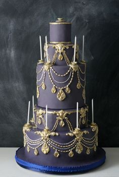 Artistic Wedding Cakes from The Caketress. Purple Wedding Cakes, Beautiful Wedding Cakes, Gorgeous Cakes, Pretty Cakes, Amazing Cakes, Lilac Wedding, 2017 Wedding, Yellow Wedding, Cupcakes