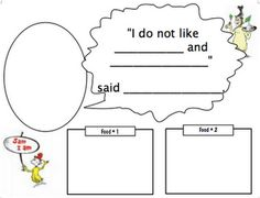 A fun resource to use during Dr. Seuss' birthday! Children write two foods they do not like, add their name, and complete with a picture. This makes a fun classroom book, too.