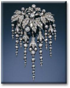 Diamond Floral Brooch, Henriette de l'Espine, la Princesse Louis de Croÿ.