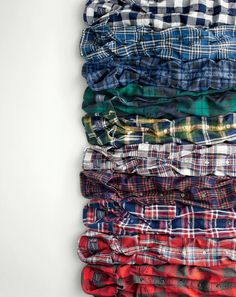 What we do at J.Crew: one-of-a-kind flannels. All our plaid patterns are custom-designed by us. Which means if you see one of these extra-soft shirts you like, you need to get it before it's gone for good.