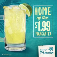 CHEERS! Did you know we are the official home of the $1.99 Margarita?!