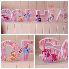 Letras 3d My Little Pony