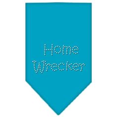 Home Wrecker Rhinestone Bandana Turquoise Small