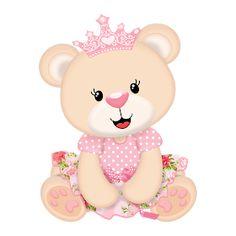 Popis Digital: Tema Ursinha Princesa: Convites e Tags gratuito para você imprimir ai na sua casa!