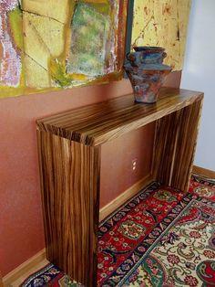 zebrawood hall table salvaged reclaimed citytrees lumberjack madeinusa
