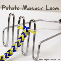PaperVine: Potato Masher Rescue! (3 Kids, 2 Looms)