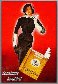 Sigaretten reclame jaren 50  Het merk van sigaretten dat mijn vader altijd rookte.