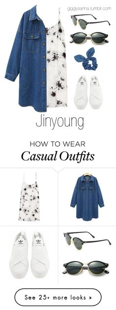 """""""Casual LA Date // Jinyoung"""" by suga-infires on Polyvore featuring TIBI, adidas, Dorothy Perkins and Ray-Ban"""