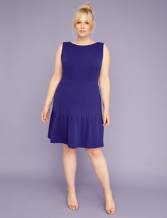 0eee92279 Lane Bryant Pleated Skirt Fit   Flare Dress