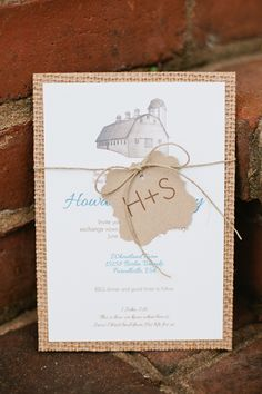 farm wedding ideas | Burlap Rustic Wedding Invitations 275x412 Loudoun County Farm Wedding ...