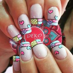 Uñas nails for kids, fun nails, pretty nails, short nail designs, Pink Glitter Nails, Pink Ombre Nails, Gold Nails, Nail Pink, Red Nail, Fall Gel Nails, Gel Nails At Home, Cute Nails, Pretty Nails