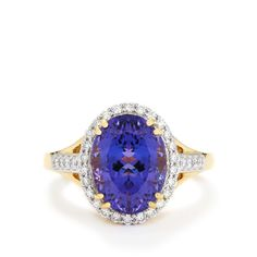 A captivating Ring from the Lorique collection, made of 18k Gold featuring 6.45cts of adorable AAA Tanzanite and dazzling Diamonds.