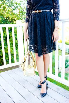 Summer Nights :: Black Lace & Leopard Accents